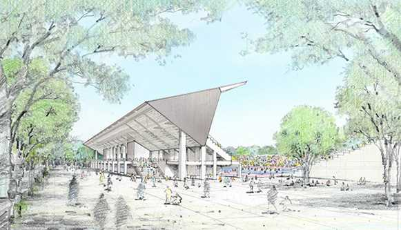 Artist's impression of the main hockey stadium for 2020 Olympics