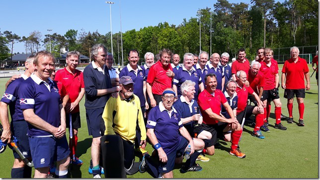 Scottish Thistles and German team in Tilburg 2018
