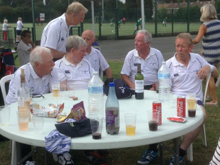 Scotland Grand Masters relax at the end of the tournament