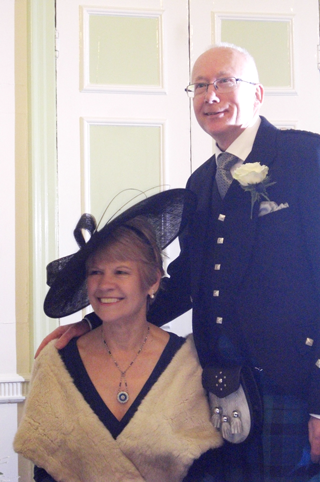 Alan and Christine Bain at their wedding on 21 December 2014