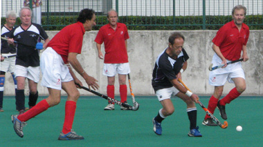 Alex Cathro in action against England Over 60s