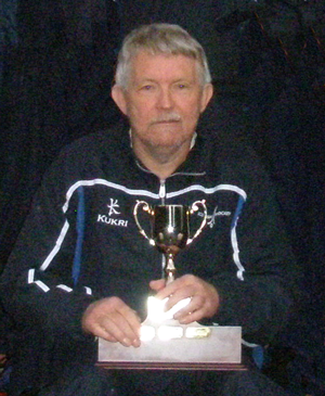 Over 60s Captain Jim Chisholm with Celtic Cup for 2012