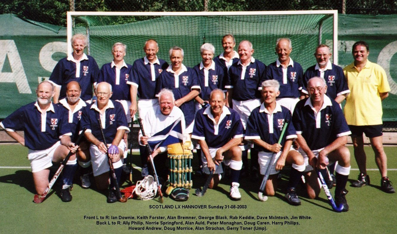 Scotland Over 60 Team Photograph Hannover 2003