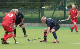 Auld stands firm against England Over 65s player Hutchings
