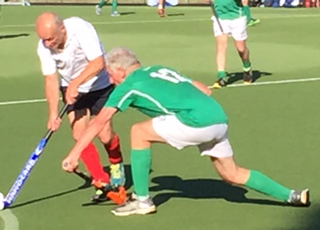 Colin Tucker on the attack against Ireland